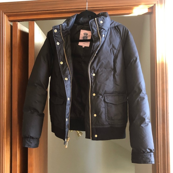 Juicy Couture Jackets & Blazers - Juicy Couture Black Puffer Jacket Coat